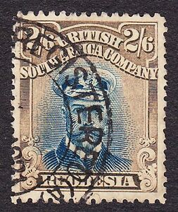 Rhodesia 1918-20 Perf14 UNCATALOGUED 2/6 Ref9 Plate8 State 3 REGISTERED USE 1921