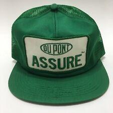 VTG Dupont Baseball Trucker Farm Mesh Cap Hat Patch Made in USA K Brand Snapback