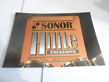 VINTAGE MUSICAL INSTRUMENT CATALOG #10646 - SONOR HILITE EXCLUSIVE DRUMS