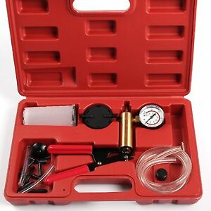 Car Auto Brake Bleeder Tester Kit Vacuum Pump Motorcycle Bleeding Tool Hand Pump