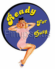 "Pinup Girl Nose Bomber Art Waterslide Decal ""Ready for Duty"" S919 by Pinupsplus"
