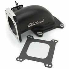 Edelbrock 38483 Engine Air Intake Elbow, Low Profile, Black Powder Coated Finish