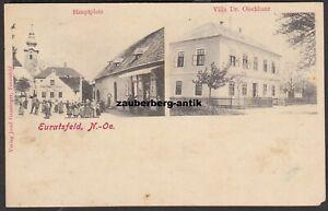 Euratsfeld Hauptplatz & Villa Dr. Olschbaur um 1900 Bezirk Amstetten