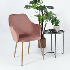 1er Retro Sessel Polstersessel Samt Loungesessel Clubsessel Stühle Küchenstuhl