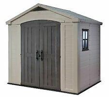 Keter 17197990 8x6ft Outdoor Plastic Garden Shed - Beige