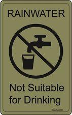 Rainwater Harvesting Adhesive Labels Sticker Pack
