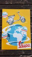 No 22 Vespa Scooter Service 1958 Vintage Ad Gallery Postcard MV1PC ***MINT***