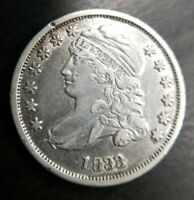 1833 Silver Capped Bust Dime Extremely Fine XF EF or About Uncirculated AU Dets