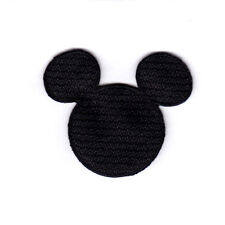Disney Mickey Mouse Black Head Small Iron On Embroidered Patch