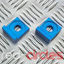 12mm BLUE ALLOY L BLOCK PIT DIRT BIKE CHAIN TENSIONERS ADJUSTERS 110cc 125cc 140