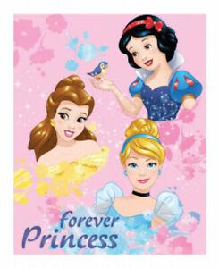 "DISNEY PRINCESS  ~  ""Forever""   Fleece Blanket, Licensed."