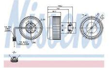 NISSENS Ventilador habitáculo VOLVO S80 XC V70 S60 87036