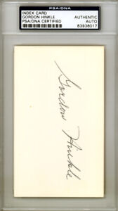 Gordon Hinkle Autographed Signed 3x5 Index Card Boston Red Sox PSA/DNA 83936017