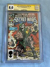 Secret Wars #10 (Feb 1985 Marvel) CGC SS 8.0 WP Signed 3X ZECK, BEATTY & SHOOTER