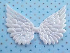100! Angel & Fairy Wings - Beautiful White Satin Wing Embellishments 7cm/2.5""