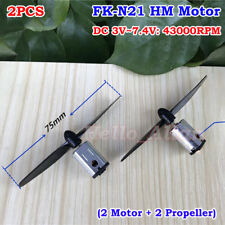 2PCS DC 3V 3.7V 5V 6V 7.4V 43000RPM High Speed FK-N21 Mini DC Motor DIY RC Drone