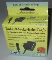 Steger Ruhe- und Flackerlicht-Trafo für Puppenhäuser / Krippen  *NEU/OVP*