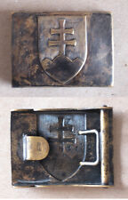WWII MARKED SLOVAKIAN STATE RANK BELT BUCKLE 1939-1945 – VERY RARE / MINT