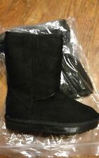 Girl  Light Up  LED BLACK Faux Suede Boots size 3US.  (2.5UK). (35 EU)