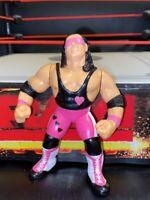 Bret Hitman Hart WWF WWE Wrestler Action Figure Hasbro 1992 Series 4