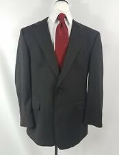 Burberry Black Pinstripe Mens 2 Piece Jacket Pants Suit Size 42R 34x29
