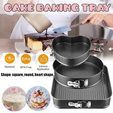 3pcs/Set Nonstick Leakproof Round Cake Pan Set Cheesecake Spring Baking Wedding