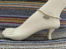 beads anklet beach wear stretchy handmade Pac Man alloy charm ankle bracelet