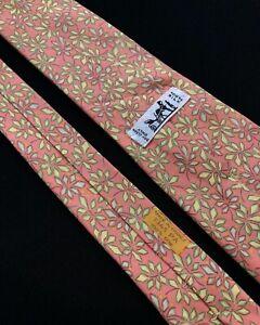 Hermes Tie Cravatta,  100% Silk Made In France 7365 PA
