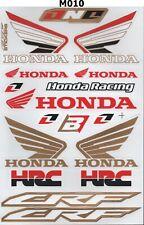 Honda Wings Logo Racing Stickers Sheet Emblem Motorcycle Racing ATV Bike B001
