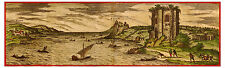 Baia Bay of Naples Campania Italy bird's-eye view map Braun Hogenberg ca.1575