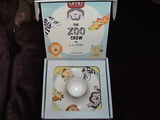 NEW BEAUTIFUL DAVID MASON DESIGN THE ZOO CREW COOL EGG CUP IN PRESENTATION BOX