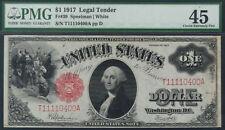 TMM* 1917 LTN Bank Note F#39 PMG Ch EF45 small tear
