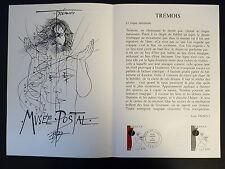 FRANCE MUSEE POSTAL FDC 34-77    DESSIN DE TREMOIS   3F   PARIS    1977