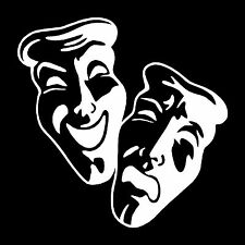 Drama Masks Vinyl Window Vehicle Decal Bumper Sticker