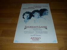 THURSDAY's  LADIES   Tutin  Atkins  &  Phillips  APOLLO  Theatre  Poster