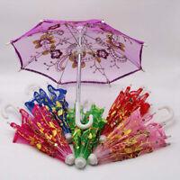 Un regalo. Nuevo paraguas Paraguas bordado Accesorios de muñeca Capa de sol