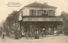 CARTE POSTALE BAR TABAC VILLEMOMBLE CAFE DU ROND POINT PLACE DE LA GARE