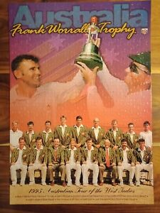 1995 Australian Cricket Tour of West Indies Jigsaw Puzzle Frank Worrall Trophy