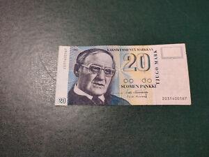 Finland banknote 20 Markkaa 1993 !!!!!!!!