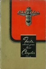 Factory Owners Manual for 1946-1948 Chrysler Six