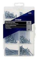 231-Piece Wood Screw Assortment Kit Combo Crown Bolt 00364 Flat Head Phillips
