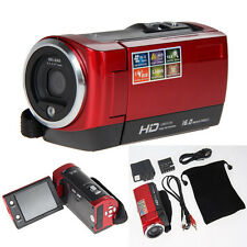 "720P Digital Touchscreen Camcorder Video Camera DV DVR 2.7"" LCD 16MP ZOOM Red"