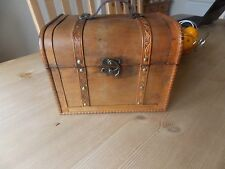 Antique Style Decorative Storage Wood Trunk Treasure Chest Box, Lrge 27x21 x20cm