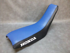 HONDA TR200 Seat Cover FATCAT  in 2-TONE BLUE & BLACK or 25 COLORS (HONDA SIDES)