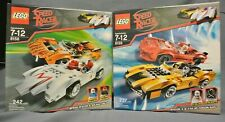 LEGO 8158 8159 Speed Racer Snake Oiler Taejo Racer X Mach 5 VERY RARE NEW in BOX