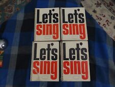 1960 LETS SING Gospel Song Book Lot Of 4 Books 118 Pages !