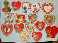 VALENTINE'S CARDS Lot of 15 vintage cards from the 1930's collection