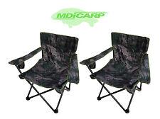 2 MDI Carp Folding Camping Camouflage Chairs for Camping, Walking & Fishing