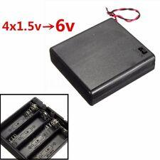 4x Contenitore Stilo AA Porta Pile Batterie Batteria Portabatterie Interruttore