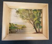 10 x 8 oil painting river landscape Paul studios New York